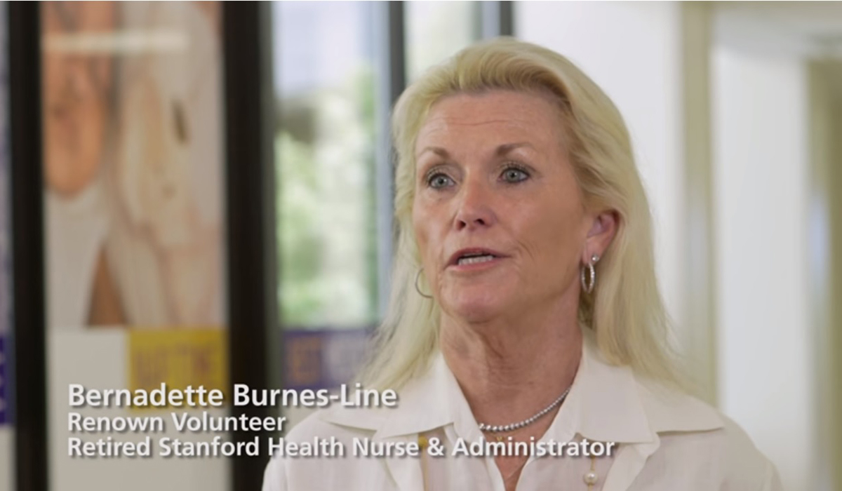 Bernadette Burnes-Line, Renown Volunteer, Retired Stanford Health Nurse & Administrator