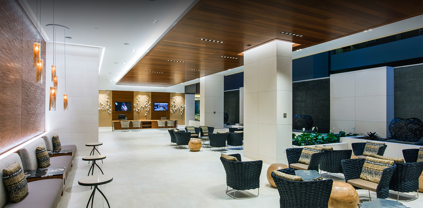 interior hotel seating area