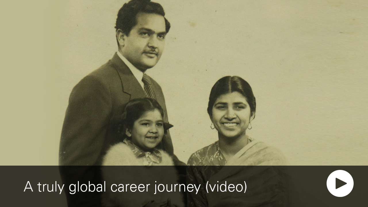 Vanguard technology leader, Abha Kumar, child portrait with family