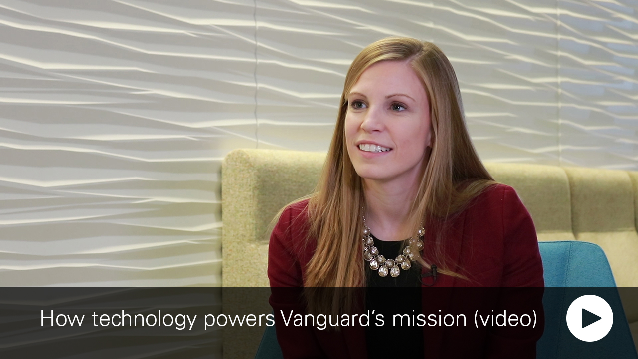 Picture of Kelly Rumbaugh, an IT manager at Vanguard