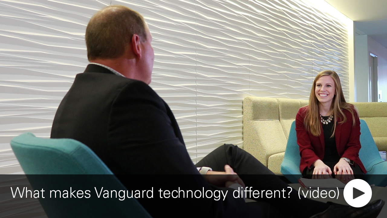 Picture of Kelly Rumbaugh and John Marcante, leaders in Vanguard's IT division