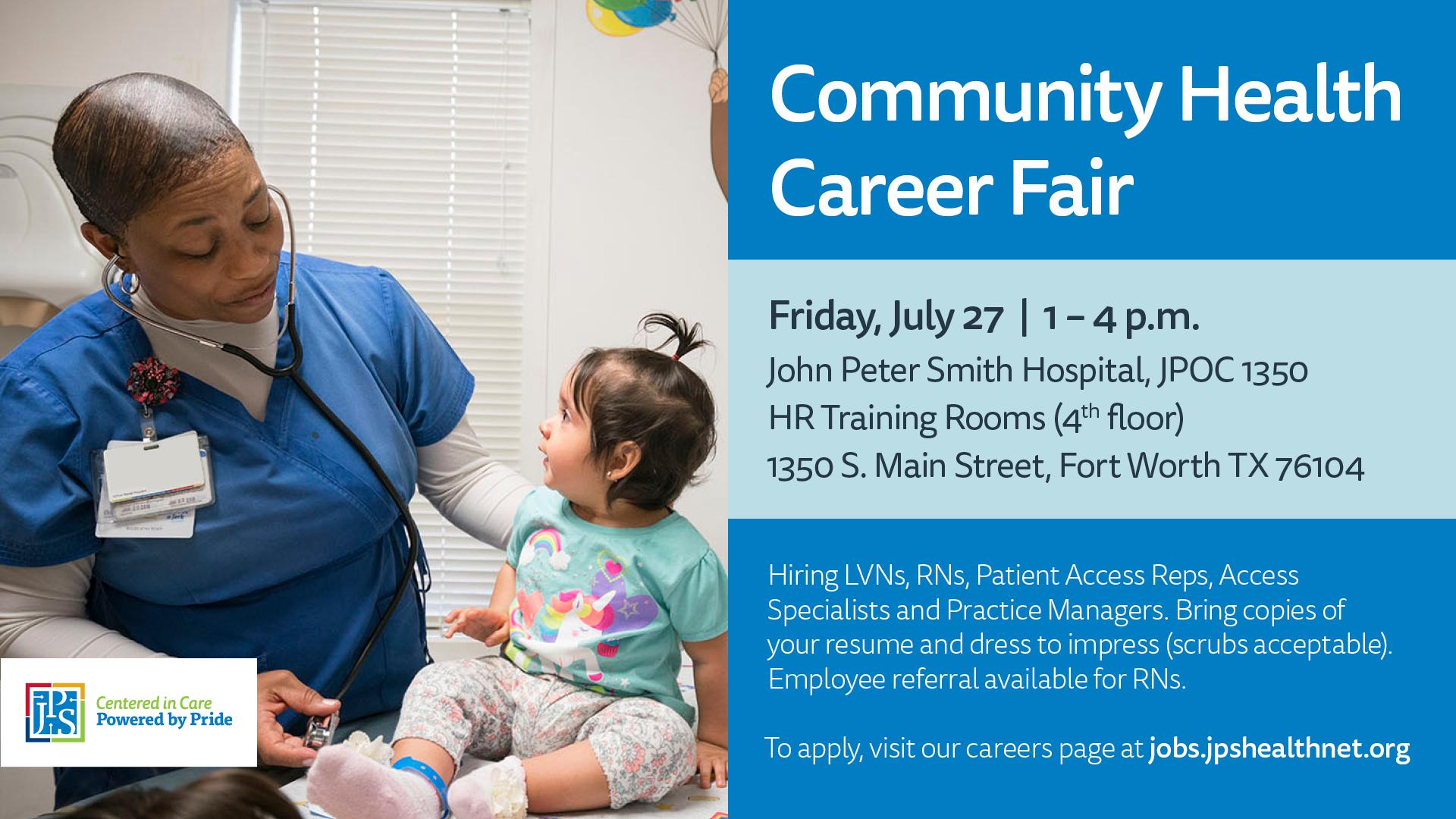 Community Health Career Fair flyer