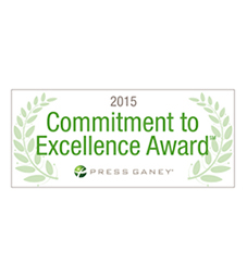 Press Ganey 2015 Commitment to Excellence Award