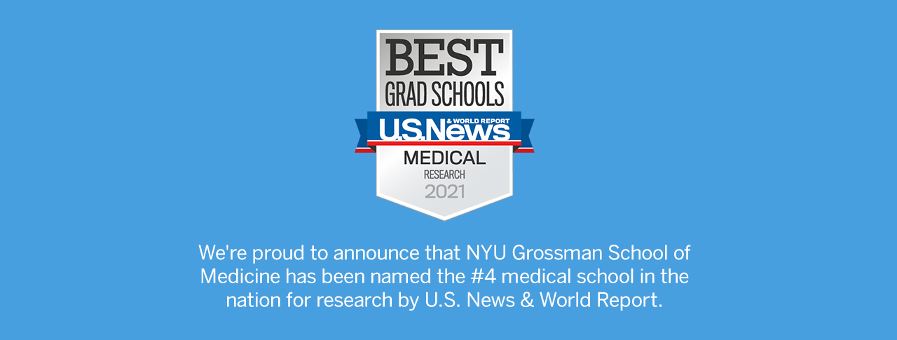 NYU Grossman School of Medicine named #4 medical school by U.S. News and World report