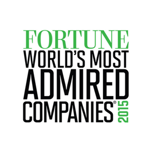 Top 50 of the World's Most Admired Companies by Fortune Magazine