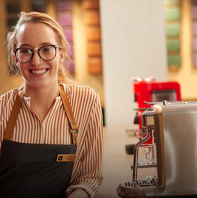 Nespresso employee smiling