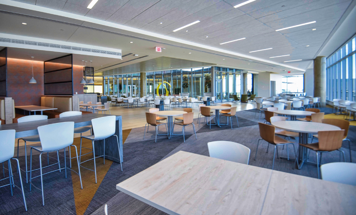 seating areas inside Liberty Mutual Plano, TX office