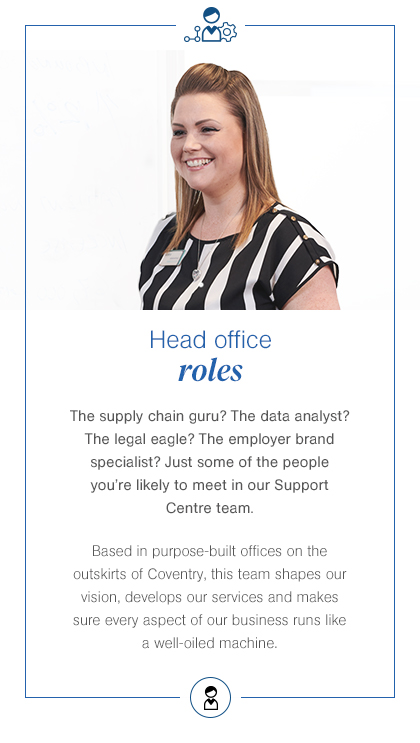 Head office roles