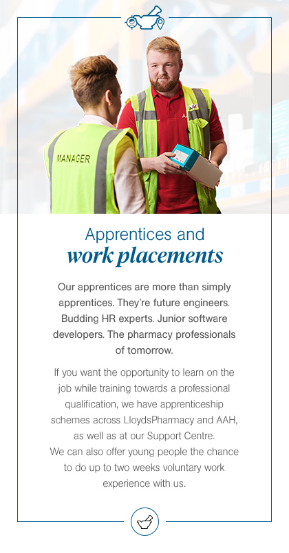 Apprentices and work placements