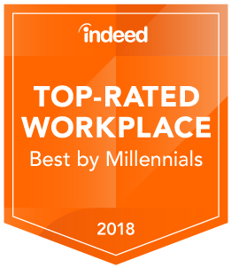 Indeed Top Rated Workplace - by Millenials
