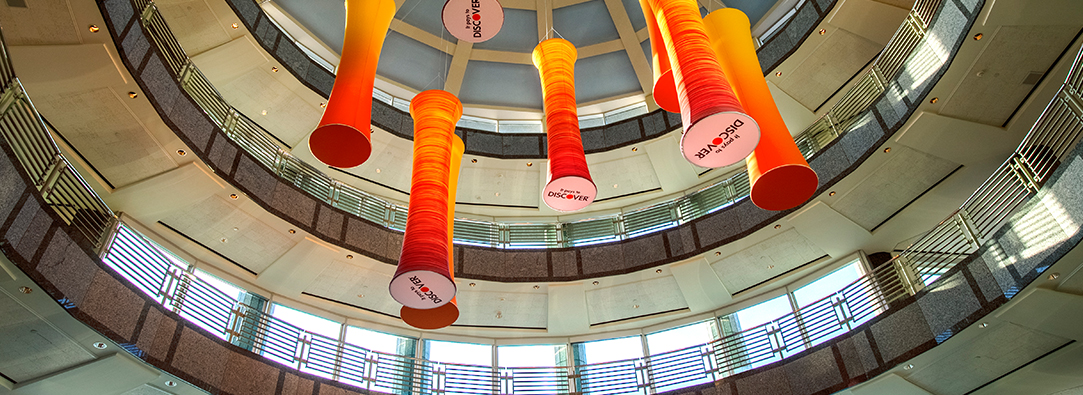 The rotunda of Discover Riverwoods site