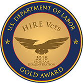 U.S. Department of Labor Gold Award: HIRE Vets, 2018 Program Demonstration