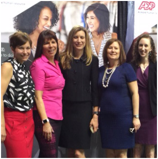 group of ADP associates at a hiring event