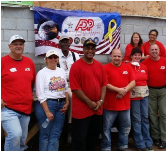 ADP associates volunteering for Habitat for Humanity