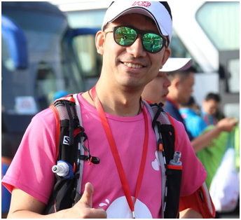 male ADP associate at the 50km Egg Walkathon