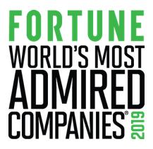 Nejobdivovanější společnosti světa pro rok 2019 podle magazínu Fortune