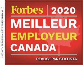 Forbes 2020: meilleur employeur Canada, réalisé par Statista