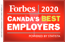 Forbes 2020: Canada's Best Employers powered by Statista.