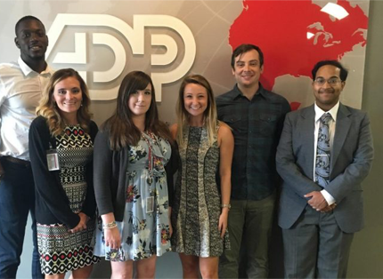 group of ADP interns