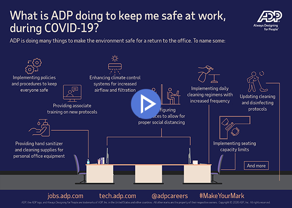 Video: What are ADP and our associates doing to keep safe at work during COVID-19?