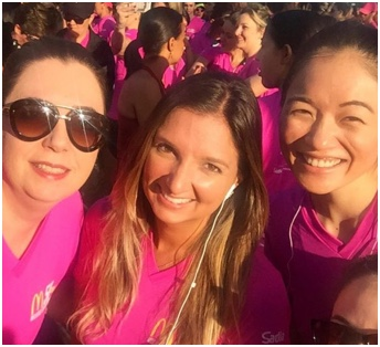 three ADP women in pink T-shirts
