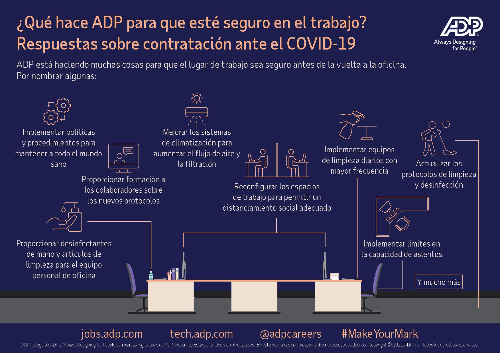 ¿Qué hace ADP para que esté seguro en el trabajo?
