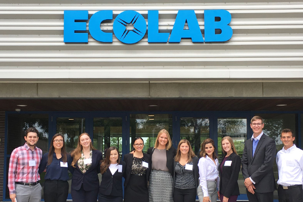 a group of Ecolab interns