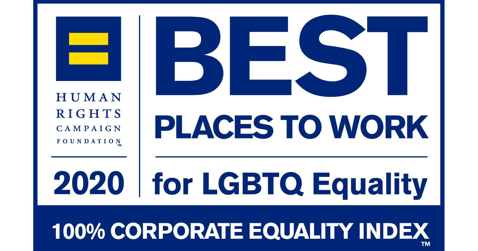 Human Rights Campaign Best Places to Work for LGBTQ+ Equality