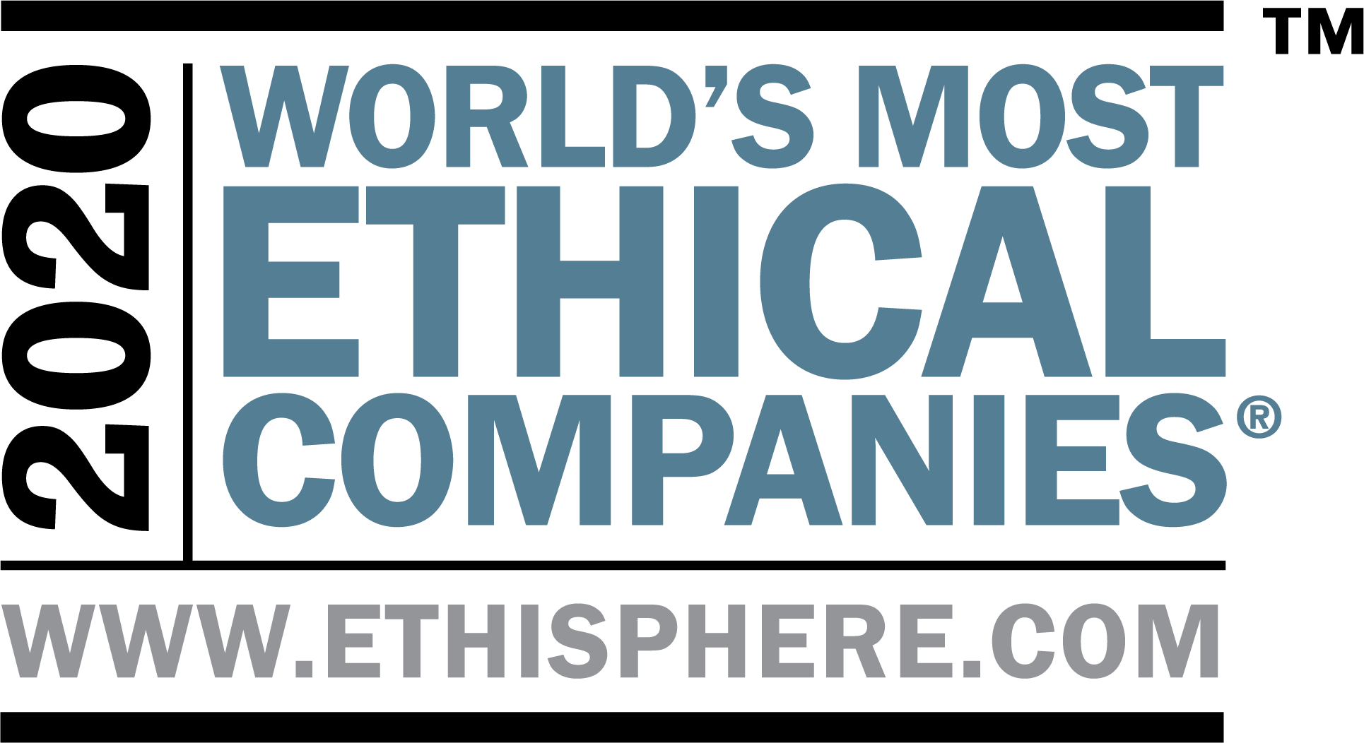 2020 World's Most Ethical Companies 14th Consecutive Year