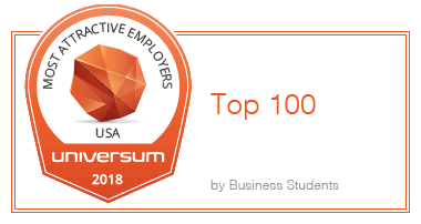 Universum 2018 - Top 100 Most Attractive Employers USA by Business Students