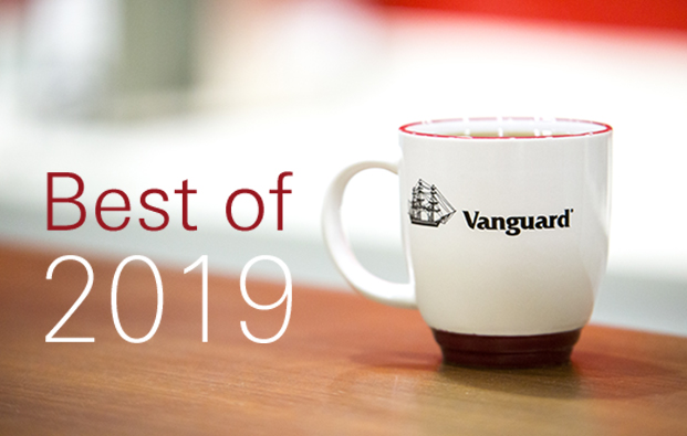 """Best of 2019"" overlaying image of Vanguard coffee mug on table"