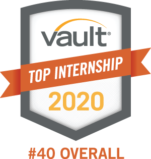 Vault Top Internships 2020 #40 OVERALL