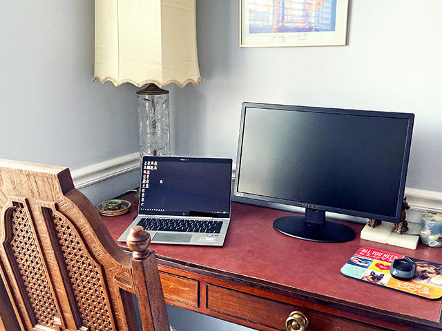 Laura B's remote workspace