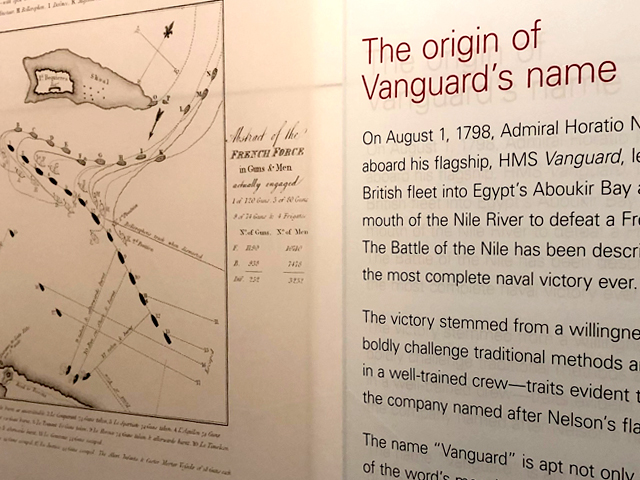 The origin of Vanguard's Name