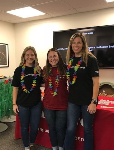 Photo taken at a fall recruiting event with colleagues