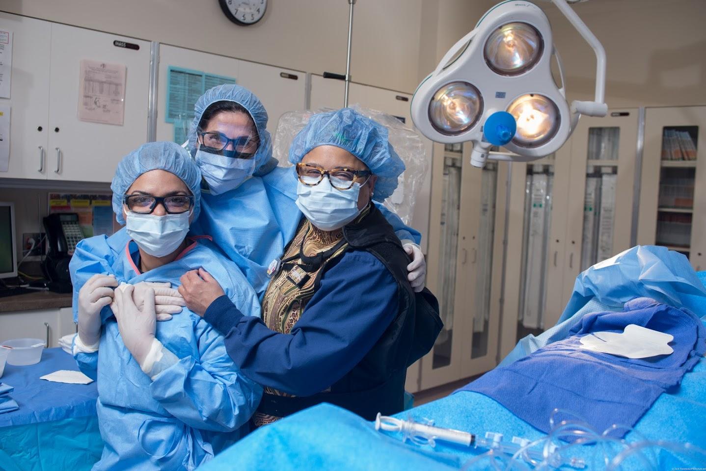 Nurses in an OR Room
