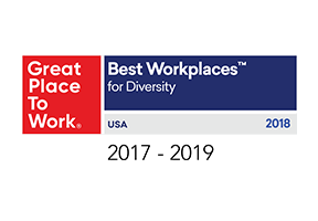 Great Place to Work honored our commitment to diversity and inclusion with Best Workplaces for Diversity Award from 2017 to 2019.