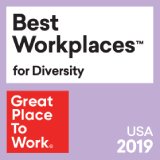 Great Place to Work honored our commitment to diversity and inclusion with Best Workplaces for Diversity Award from 2016 to 2018.