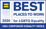 Human Rights Campaign Foundation™ named First American one of the Best Places to Work for LGBTQ Equality in 2018 and 2019.