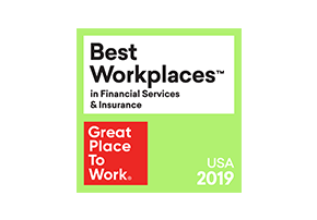 From 2017 to 2019, First American was named one of the Best Workplaces in Financial Services and Insurance by Great Place to Work.