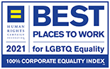 Human Rights Campaign Foundation™ named First American one of the Best Places to Work for LGBTQ Equality in 2018 and 2021.