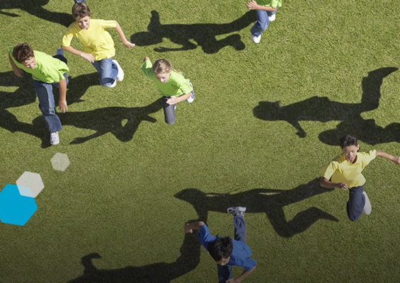 Nestle Health Science - Kids playing on a field
