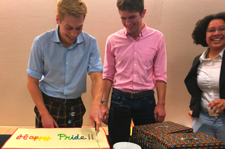Cake cutting ceremony, pride day