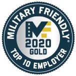Military top 10 employer, 2020 gold badge