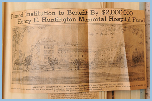 A $2 million gift from the estate of Henry E. Huntington allows the hospital to thrive despite the Great Depression